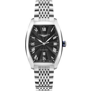 【LONGINES 浪琴】Evidenza 典藏系列機械錶-黑x銀/30.5mm(L23424516)