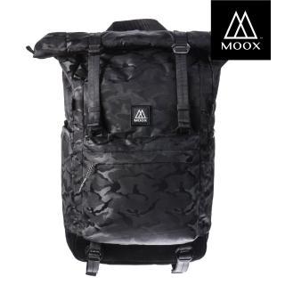 【MOOX 穆克斯】A3AB CONVERT多功能探險後背包-雙層筆電包(迷彩黑)