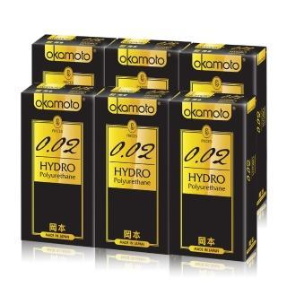 【okamoto 岡本】002 Hydro水感勁薄(6片X6盒)