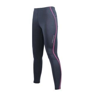 【FIRESTAR】女機能緊身長褲-慢跑 路跑 深灰螢光粉(NL707-18)