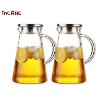 【Incare】熱銷日本耐高低溫玻璃冷水壺1700ml(買一送一)