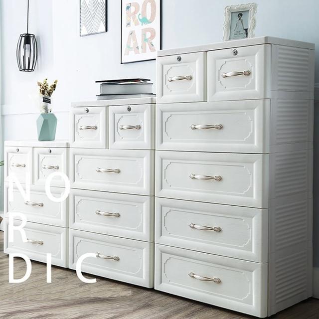 【Ashley House】歐式古典3+4+5層系列收納櫃-附鎖抽屜DIY(面寬60cm)