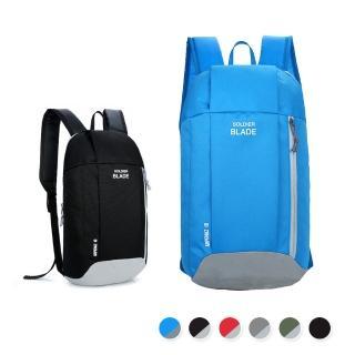 【活力揚邑】牛津雙肩背包防水防刮運動休閒旅行後背包(淺藍、黑灰)