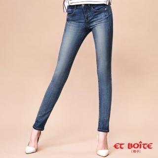 【BLUE WAY】28yrs 完美曲羨- 魔力骨感美線中腰窄直筒褲 - ET BOiTE 箱子