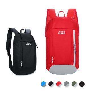 【活力揚邑】牛津雙肩背包防水防刮運動休閒旅行後背包(紅灰、黑)