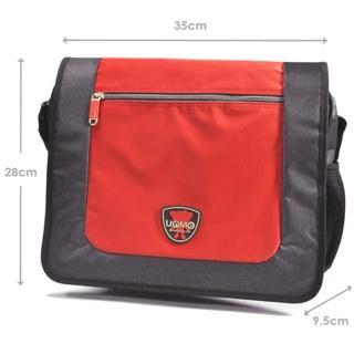 【UnMe】橫式學生側背書包(磚紅色)
