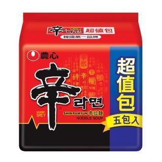 【NONG SHIM】農心 辛拉麵超值包5入(600g)