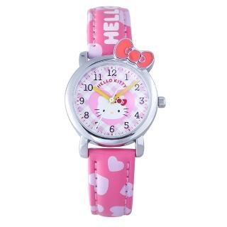 【HELLO KITTY】凱蒂貓蝴蝶結戀人手錶(粉紅 KT065LWPP)