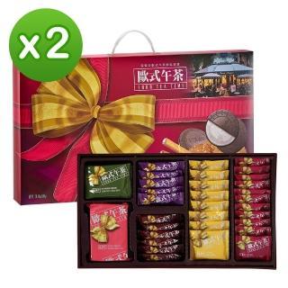 【盛香珍】歐式下午茶580g禮盒X2入組(內含6款人氣餅乾)
