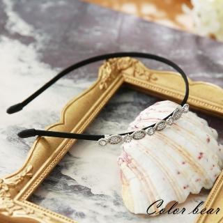 【卡樂熊】韓版氣質華麗水鑽細版髮箍(華麗銀)