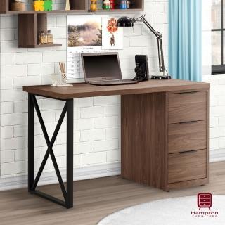 【Hampton 漢汀堡】戈登4尺三抽書桌(書桌/桌子/辦公桌)