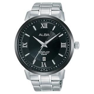 【ALBA】送禮首選 石英男錶 不鏽鋼錶帶 黑 防水50米 日期顯示(AS9E59X1)