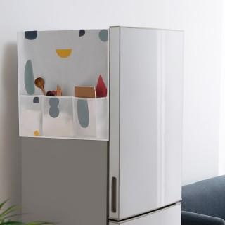 【Bunny】新防水透明印花冰箱櫥櫃收納掛袋防塵罩