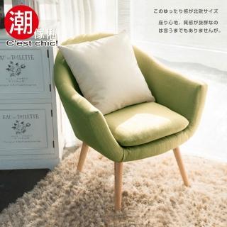 【Cest Chic】小樹之歌復古單人沙發-綠色(單人沙發)