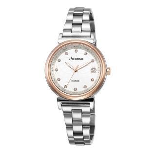 【LICORNE】力抗 永恆時光真鑽系列 宮廷魅麗繁星手錶(銀/白 LT126LTCS)