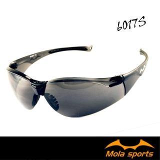 【MOLA】SPORTS 摩拉運動安全太陽眼鏡眼鏡 護目鏡 深灰鏡片(超輕量 男女可戴 6017s)