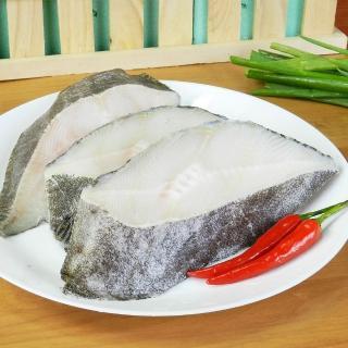 【好神】格陵蘭無肚洞比目魚切片6片組(扁鱈-270G/片)