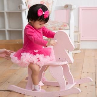 【日安朵朵】女嬰雪紡蓬蓬裙連身衣–桃紅芭比(長袖)