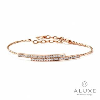 【A-LUXE 亞立詩】The Gift 系列守護幸福 18K玫瑰金0.49克拉鑽石手鍊