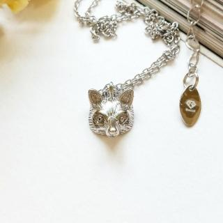 【DoriAN】手作純銀 小銀狐狸925純銀項鍊(附精美包裝組合)