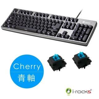【i-Rocks】IRK68MS側刻單色背光機械式鍵盤-德國Cherry軸