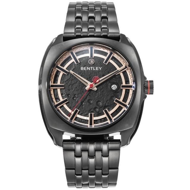 【Bentley 賓利】Solstice系列 漫步月球手錶(黑 BL1681-40181)