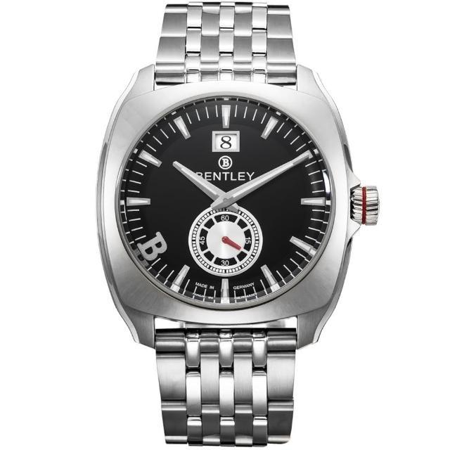 【Bentley 賓利】Solstice系列 黑暗紳士手錶(黑/銀 BL1681-50010)