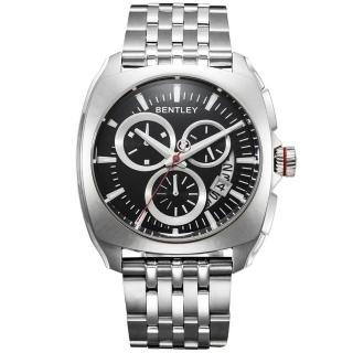 【Bentley 賓利】Solstice系列 暗黑紳士計時手錶(黑/銀 BL1681-70010)