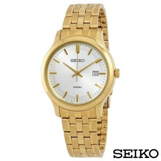 【SEIKO 精工】卓越耀眼金系風尚石英腕錶(SUR148P1)