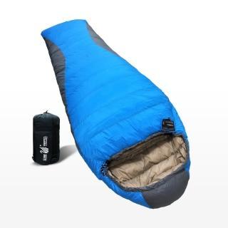 【遊遍天下】MIT保暖防風防潑水羽絨睡袋(D1000_1.75KG_隨機選色)