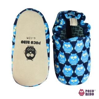 【POCONIDO】英國手工嬰兒鞋(丹寧貓頭鷹)
