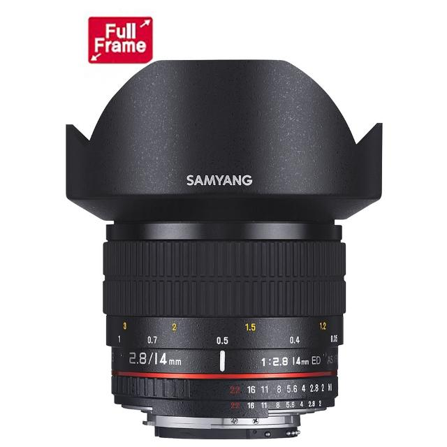 【韓國SAMYANG】14mm F2.8 ED 廣角手動鏡頭(公司貨 NIKON接環)