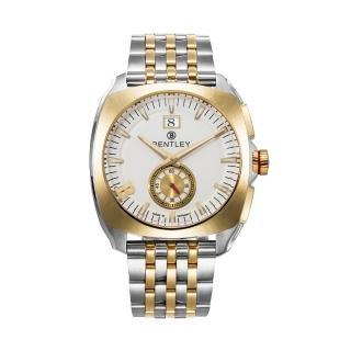 【Bentley 賓利】Solstice系列 黑暗紳士手錶(白面/白金鋼帶 BL1681-50777)
