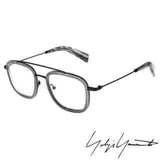 【Y-3山本耀司】Yohji Yamamoto 方型時尚前衛光學眼鏡(透明灰-YY1026-950)