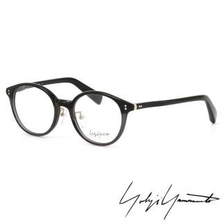 【Y-3山本耀司】Yohji Yamamoto復古圓形框面光學眼鏡(透黑-YY1020-909 12HR)
