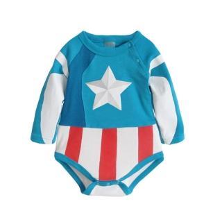 【Baby童衣】任選 經典角色造型派對包屁衣 37241(美國隊長)