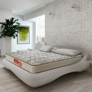 【aie】天絲棉+竹碳紗+記憶膠蜂巢式獨立筒床墊-雙人加大6尺(實惠型)