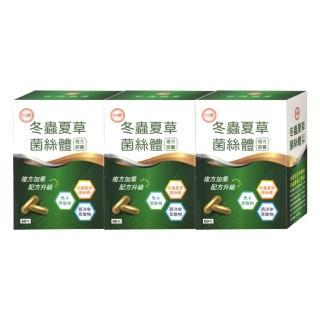 【即期出清】台糖冬蟲夏草菌絲體複方膠囊60粒X3瓶/組(限量搶購)