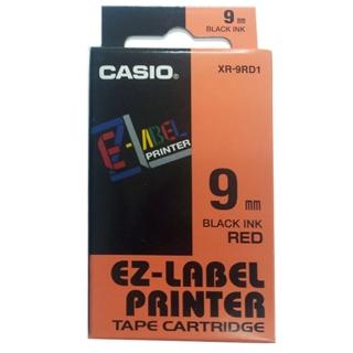 【CASIO 卡西歐】標籤機專用色帶-9mm紅底黑字(XR-9RD1)