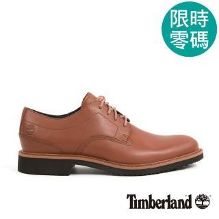 【Timberland】男款中咖啡色皮革淺口鞋