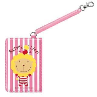 【雄獅x奶油獅】ID-404 奶油獅伸縮證件卡套(粉紅)