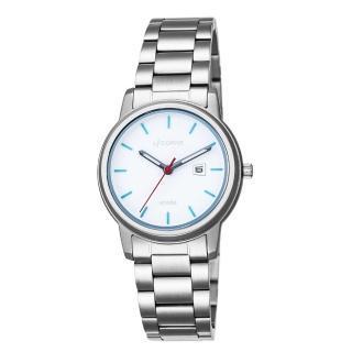 【LICORNE】力抗 品味時光都會手錶(白藍/銀 LT120LWWI-N)