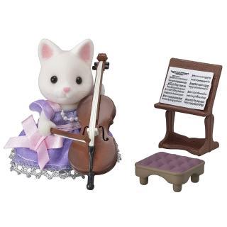【森林家族】TOWN大提琴演奏奶油貓(Sylvanian Family)