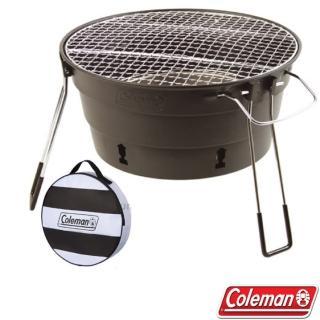 【Coleman】新款 PACKWAY收納型烤肉爐II.烤肉箱.桌上型燒烤爐.BBQ烤肉架.串燒烤台(CM-27319 黑)