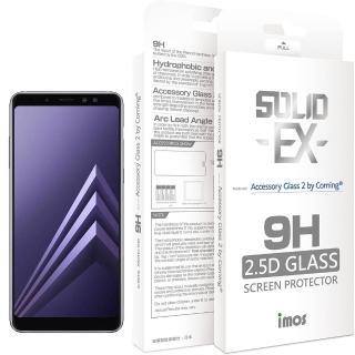 【iMos】Samsung Galaxy A8 Plus 2018(2.5D 滿版玻璃螢幕保護貼)