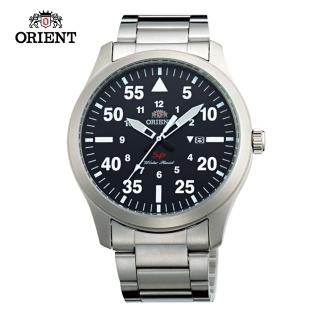 【ORIENT 東方錶】ORIENT 東方錶 SP 系列 飛行運動石英錶 鋼帶款 黑色 - 42mm(FUNG2001B)