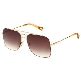【Chloe' 蔻依】金屬大框 太陽眼鏡 CE140S(金色)