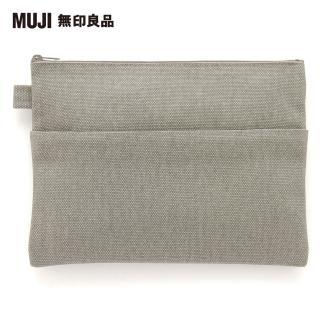【MUJI 無印良品】帆布小物袋/平型.約25x18cm