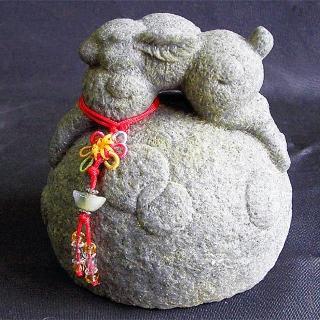 【開運陶源】開運陶源《秤心如意》系列(石塑造十二生肖-兔)