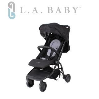 【L.A BABY 美國加州貝比】旅行摺疊嬰兒手推車(黑色.牛仔色.紅色.黃色)